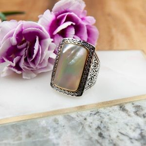 Mother of Pearl Ring | Two Tone